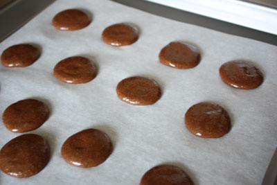 Macarons waiting for the oven