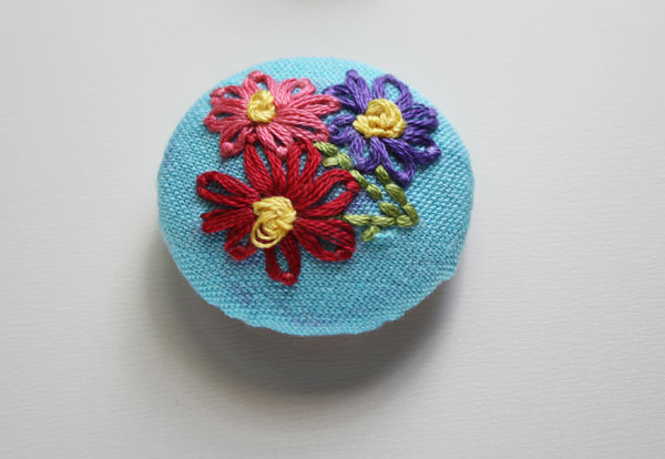 Embroidered Button Magnets